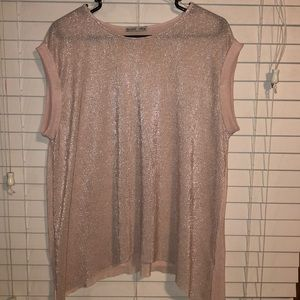 ZARA pink top with silver design